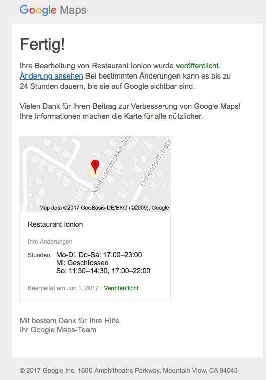 ionion Google Restaurant griechisches Viernheim