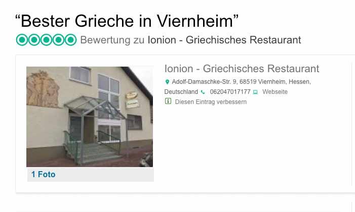 Bester Grieche in Viernheim
